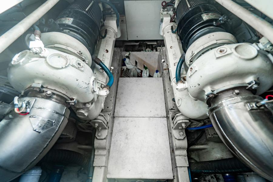 46 Bertram Engine Room