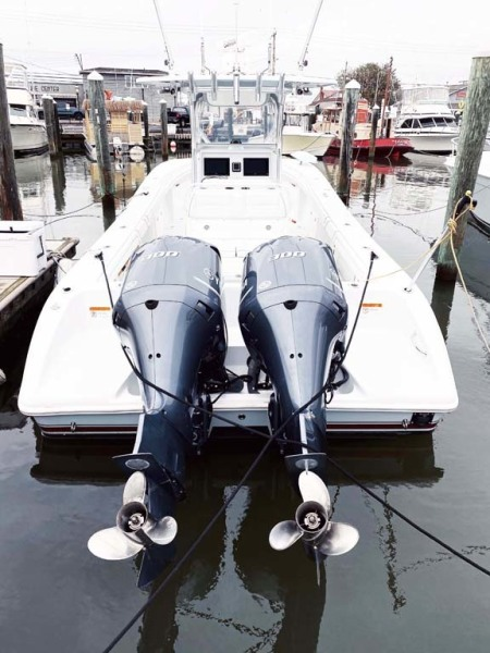 Stern View With Twin Outboards