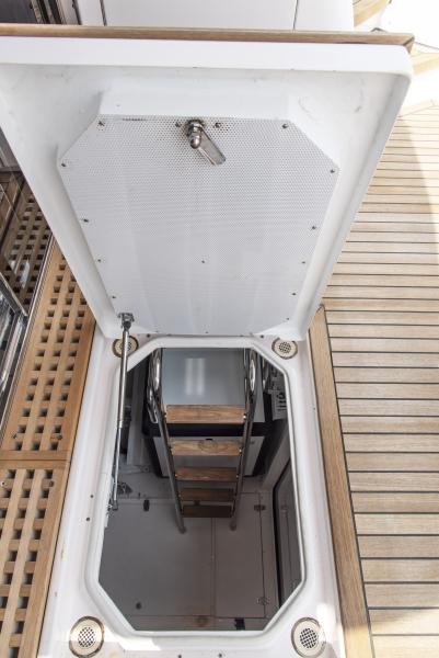 At sea engine room access