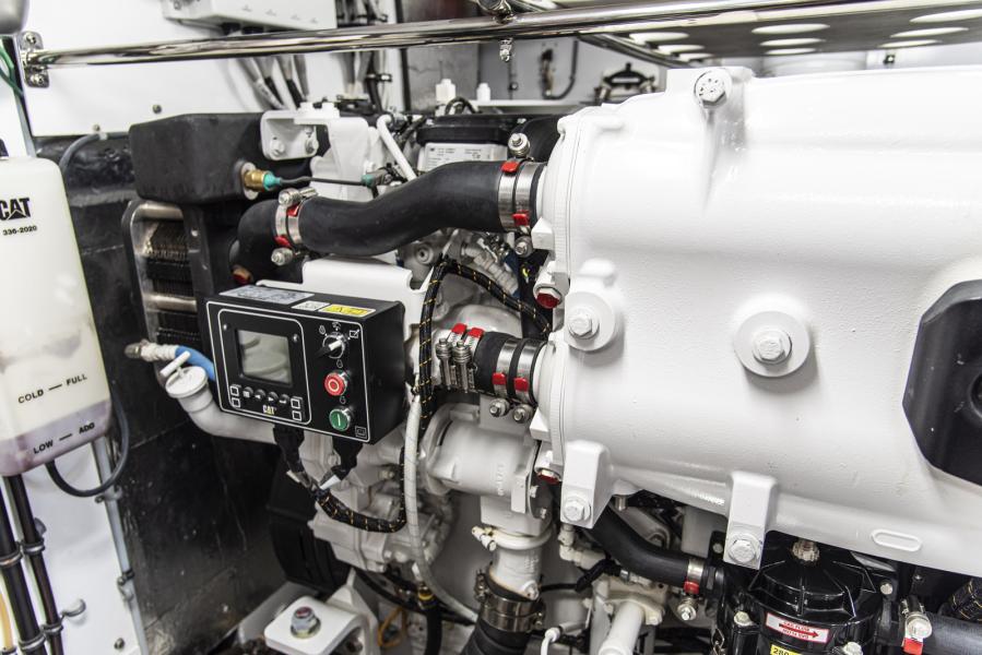 Stbd engine detail