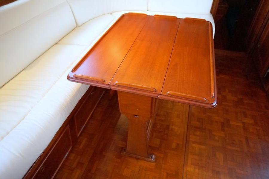 42' Grand Banks salon table