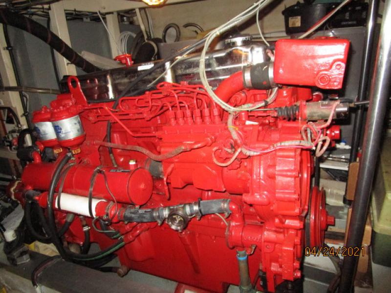 42' Grand Banks port main engine