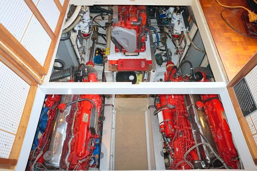 42' Grand Banks engine room access2