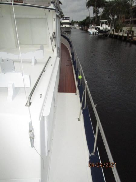 42' Grand Banks starboard side deck