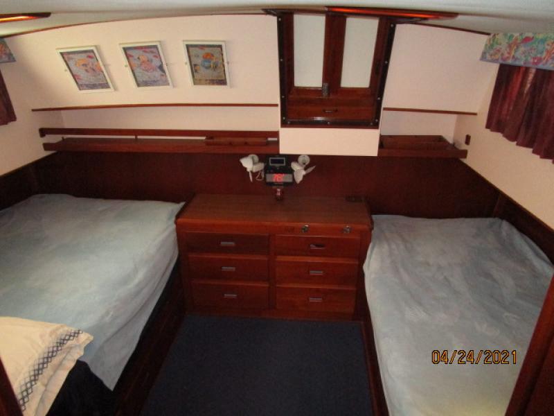 42' Grand Banks master stateroom