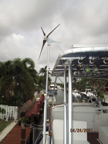 42' Grand Banks wind generator