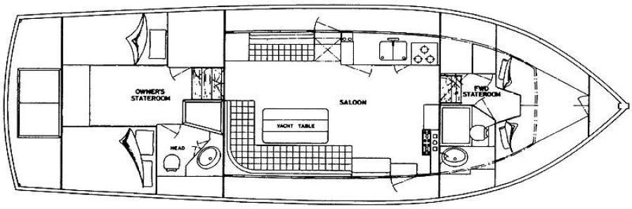 42' Grand Banks layout