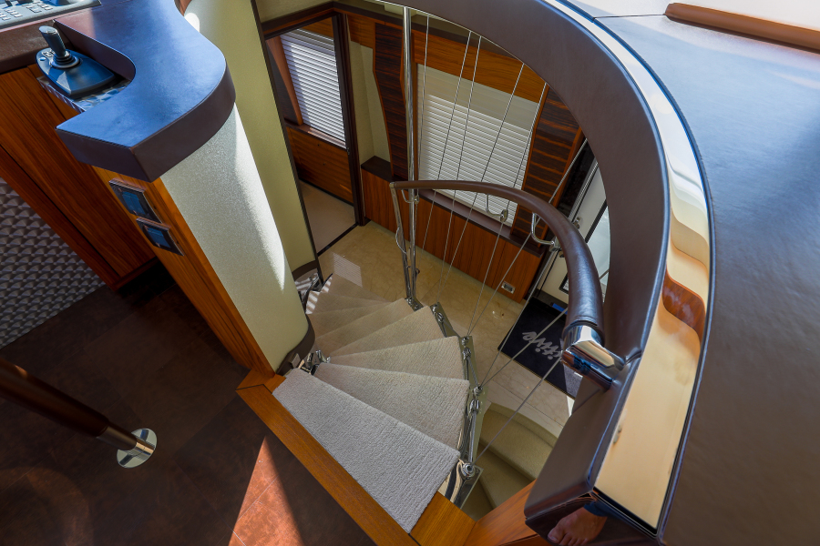 Stairway to Lower Deck Foyer