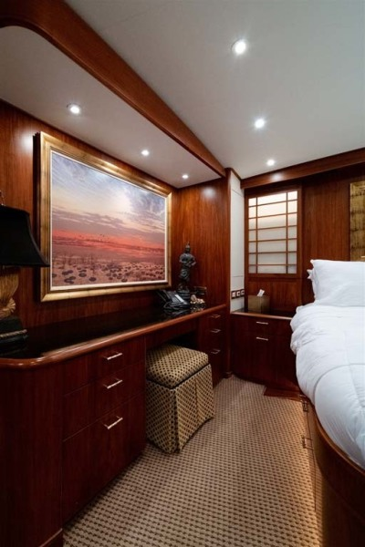 Master Stateroom Vanity Area with Stool