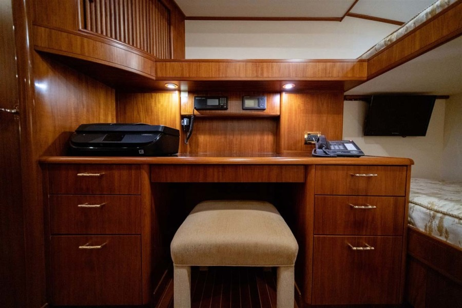 Crew Stateroom with Large Desk/Office Area