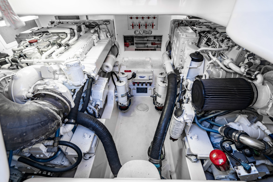 40 Cabo Convertible Engine Room