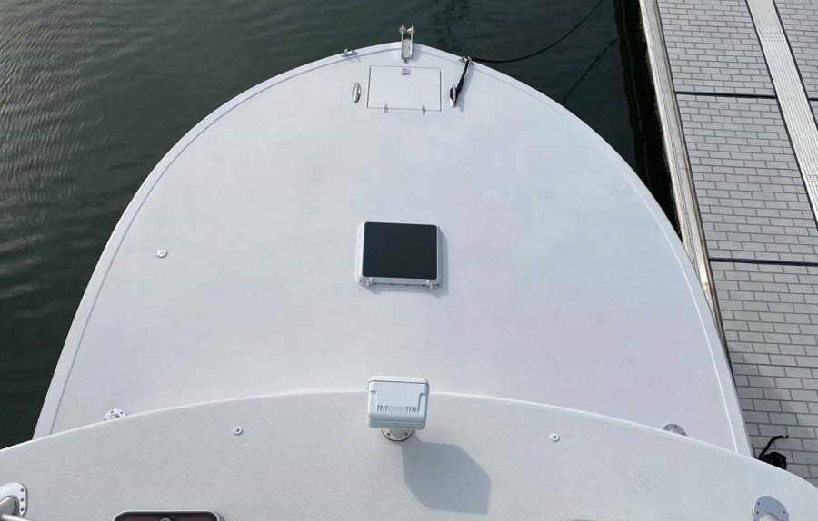 Bow, Foredeck from Tower