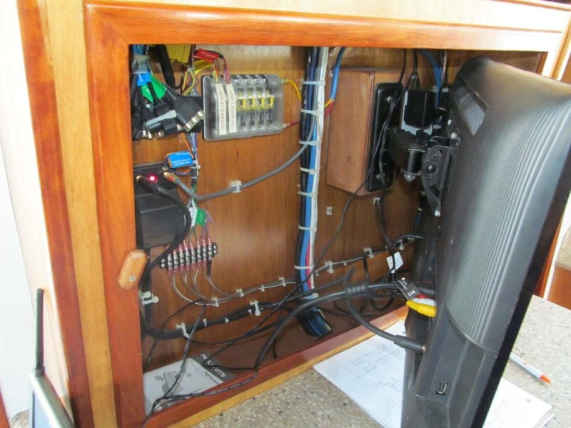 Electrical Behind Entertainment Center