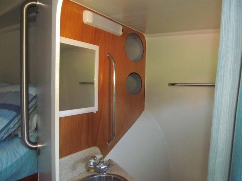 Starboard Berth Vanity Storage
