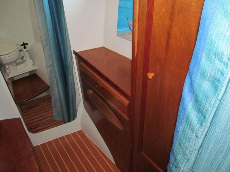 37 Starboard Berth Hanging Locker And Storage