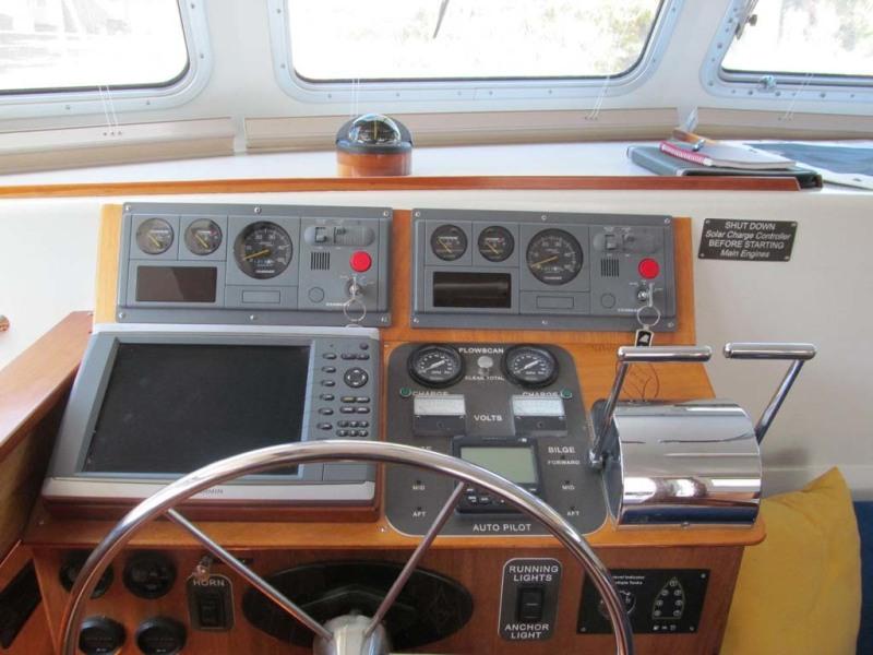 Pilothouse Helm Panels And Electronics