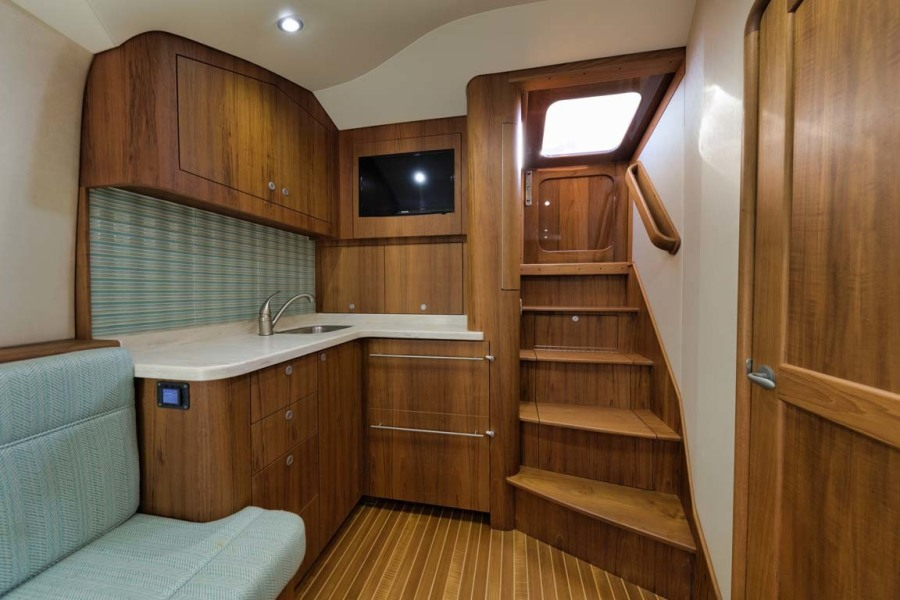 Galley with Sub Zero Refrigerated Drawers and Microwave