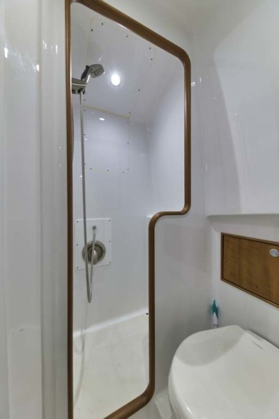 Stall Shower with Adjustable Shower Head