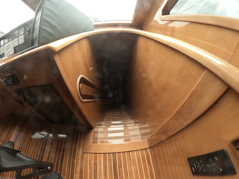 Stairs to Galley from Wheelhouse