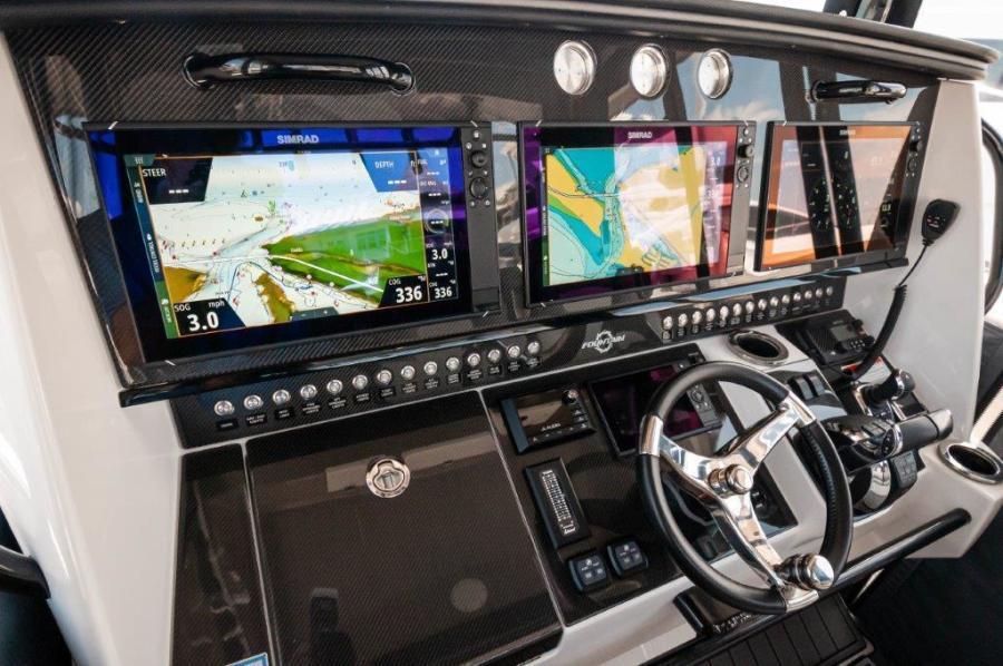 2019 Fountain 43 NX - Galati Yacht Sales Trade - Helm