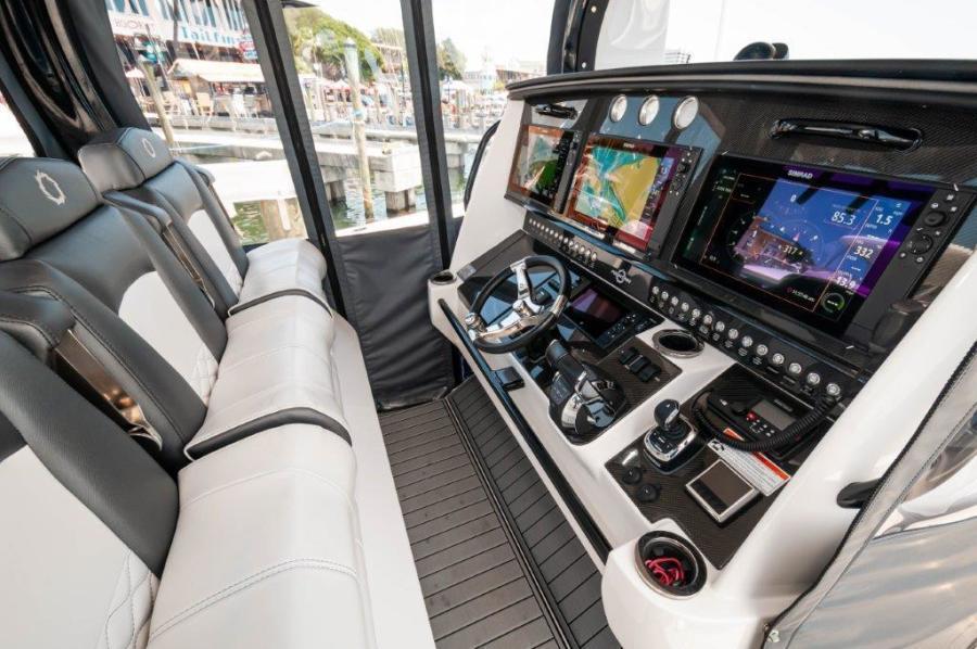 2019 Fountain 43 NX- Galati Yacht Sales Trade - Helm