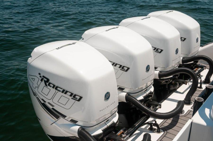2019 Fountain 43 NX - Galati Yacht Sales Trade - Quad Mercury 400R's