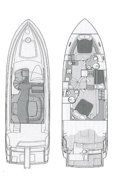 Layout 50' Sunseeker 2006, YOUNG GIRL 2