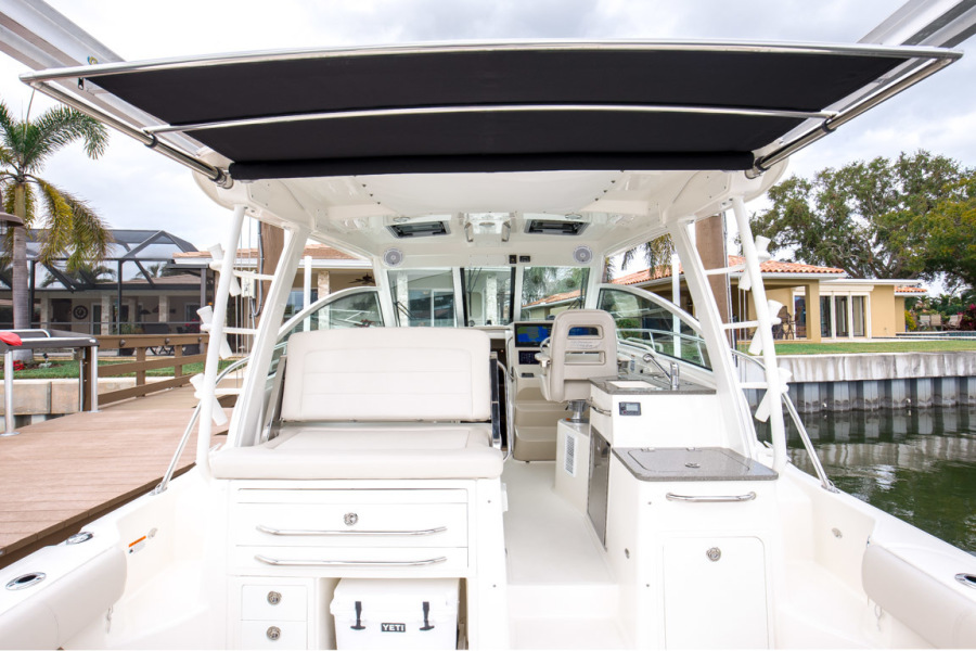 2018 Boston Whaler 345 Conquest - Happy Hours - Cockpit Sunshade