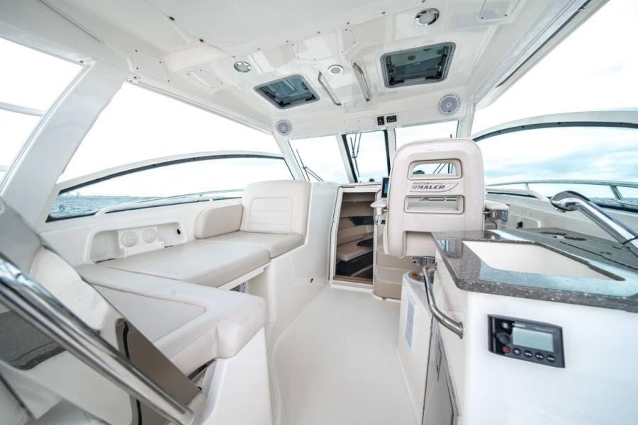 2018 Boston Whaler 345 Conquest - Happy Hours - Helm Deck Seating