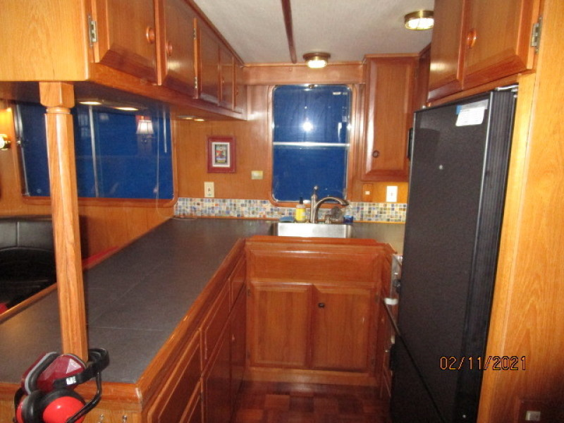 49' DeFever galley2