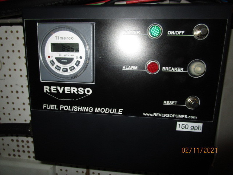 49' DeFever fuel polishing system