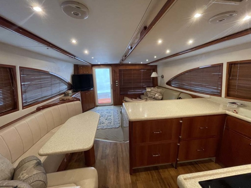 Dinette and Galley Looking Aft