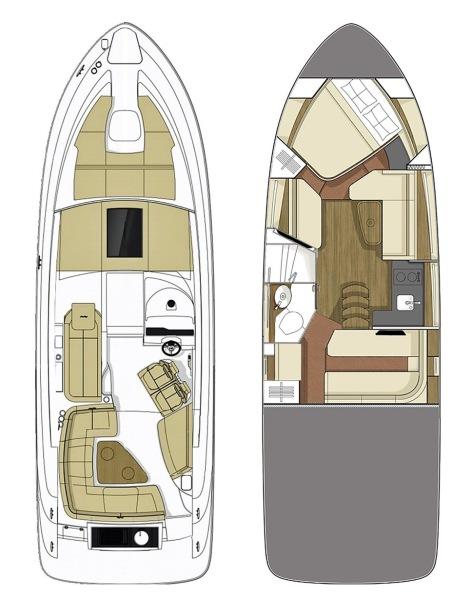 2018 Sea Ray 350 Coupe - Magnolia - Layout