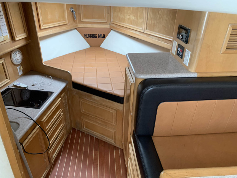 Queen Forward Berth with Storage