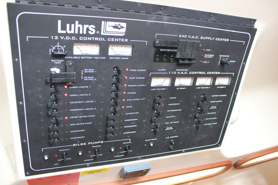 2006 Luhrs 380 Open - Fuelish Fun - Electrical Panel