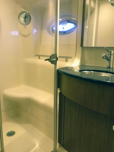 Master Shower and Vanity