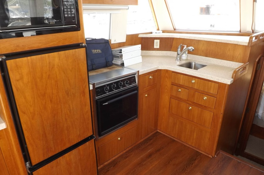 Galley Teak Cabinetry And Interior Trim