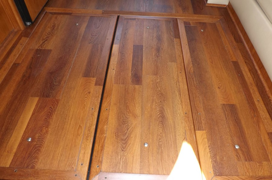 Salon LVT Flooring With Engine Hatches