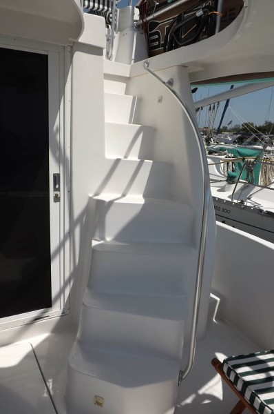 Starboard Side Stairway To Upper Deck