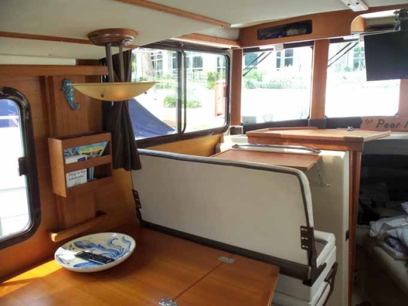 Dinette Converted To Companion Seat