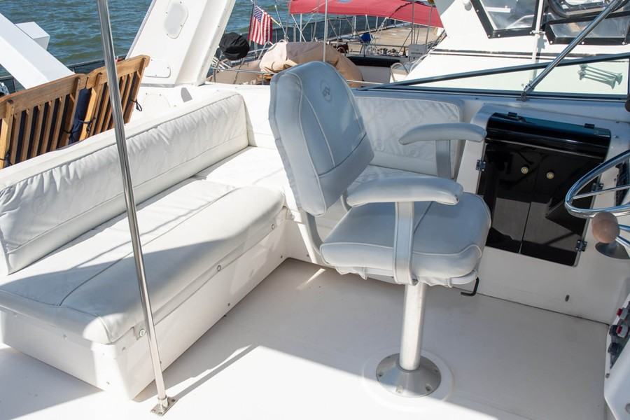 Helm Seat and Guest Seating Aft
