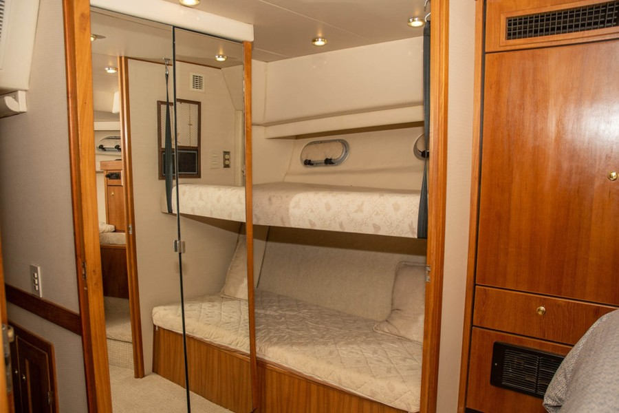 3rd Stateroom - Settee converts to two Bunk Berths