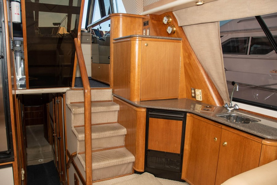 Steps up to Pilothouse and Down to Staterooms
