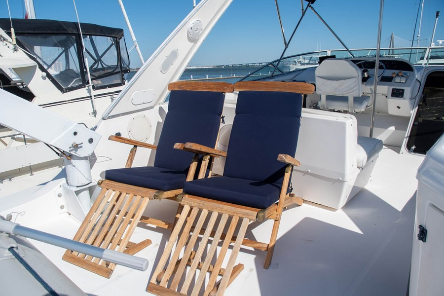 Teak Steamer Chairs with Custom Sunbrella Cushions (2020)