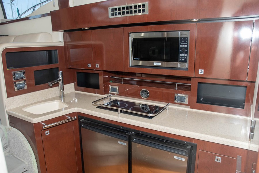 Cherry Cabinets, 2Burner Stove, Microwave and Sink