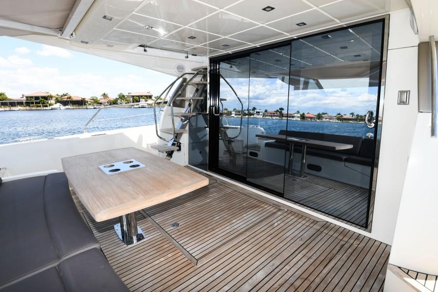 2017 Prestige 560 Flybridge  Aft Deck