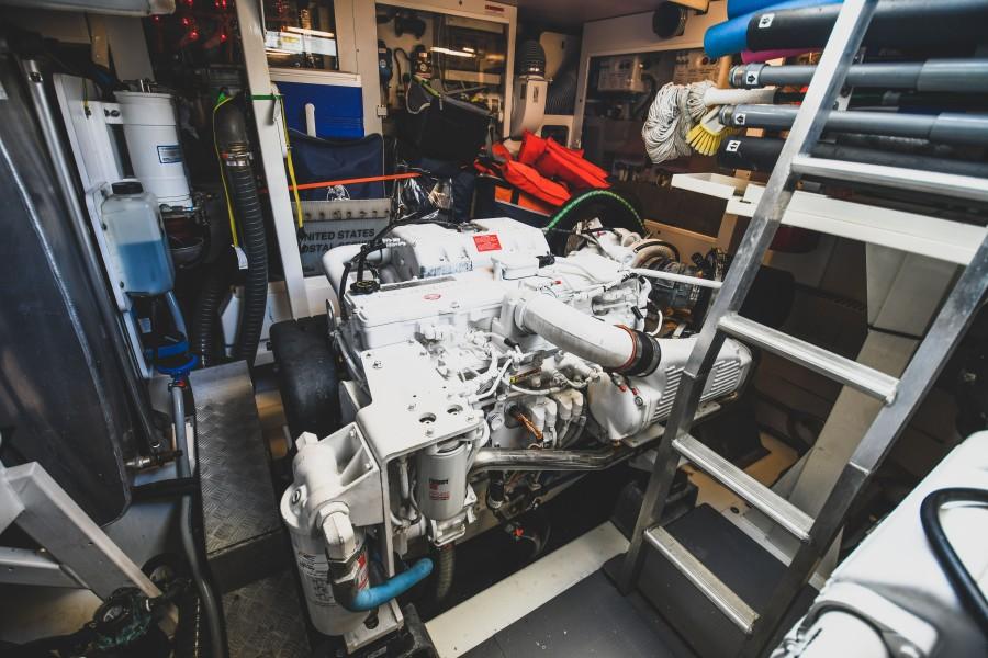 2017 Prestige 560 Flybridge  Engine Room