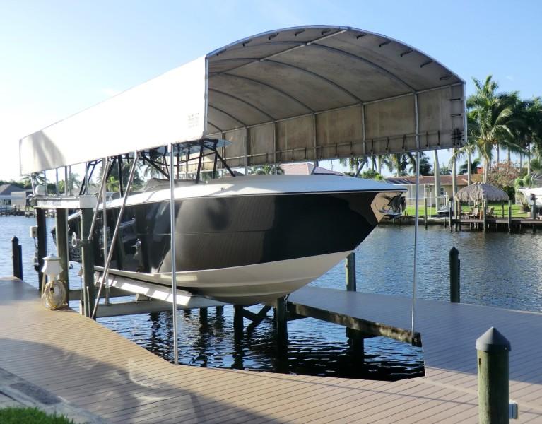 2012 Motion Marine 42SF On Lift