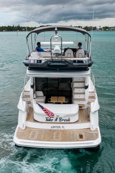 Princess Yachts - Take A Break - Aft Profile