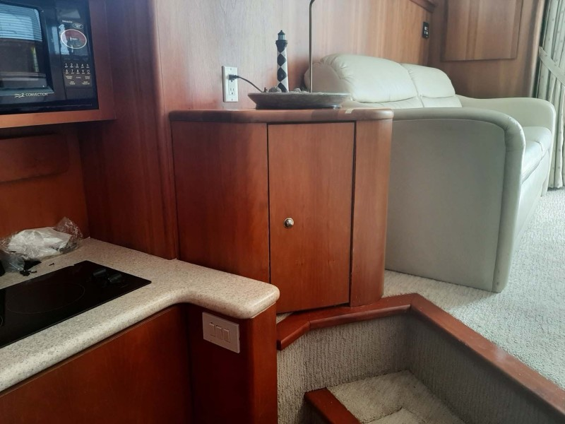 Looking Out From Galley
